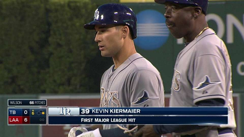 Kiermaier's first career hit