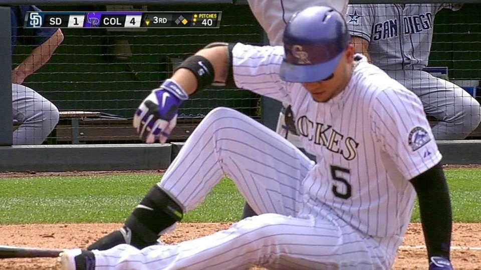 Gonzalez hit by pitch