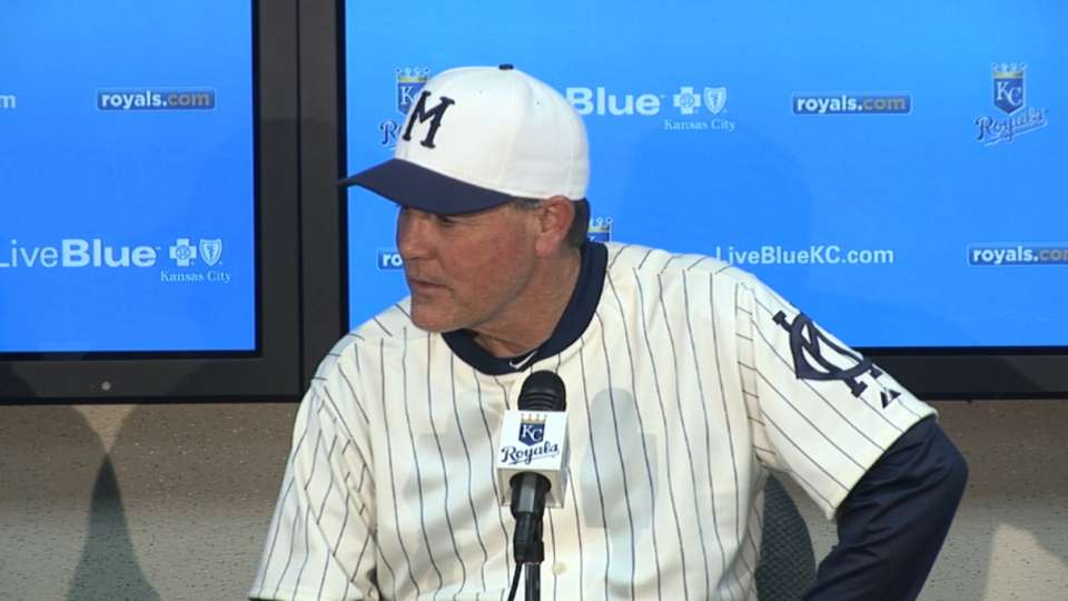 Yost on hitting, Shields in win