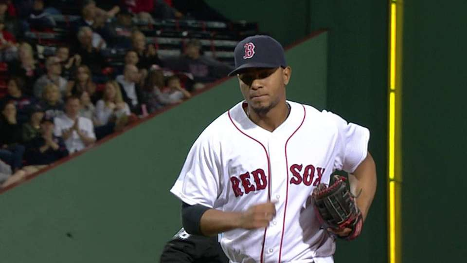 Bogaerts starts the double play