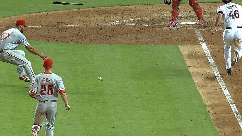 Solano's RBI infield single