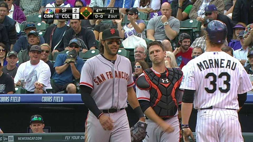 Posey makes the catch