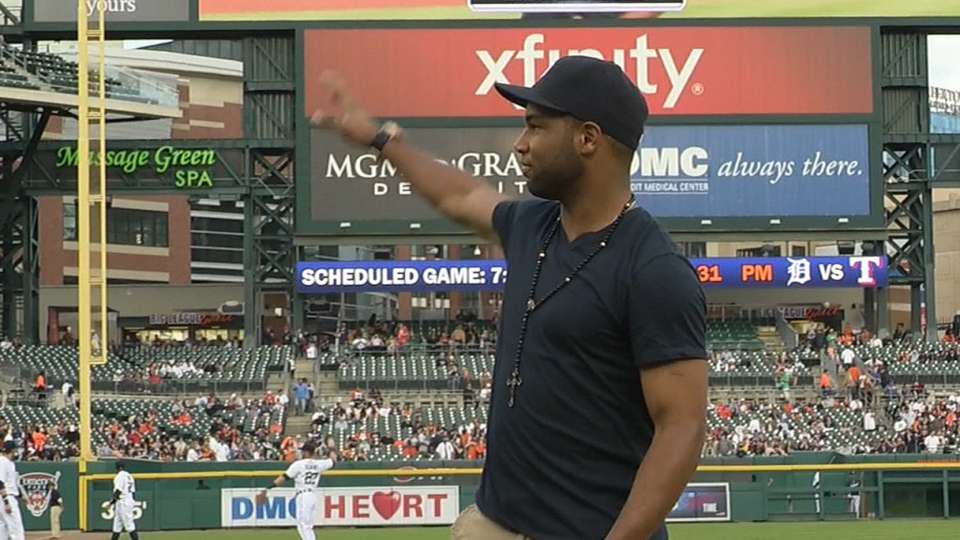 Tate throws out first pitch