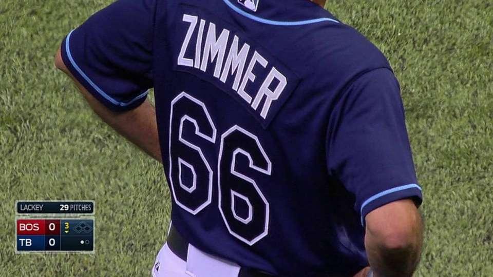 Rays honor Zimmer