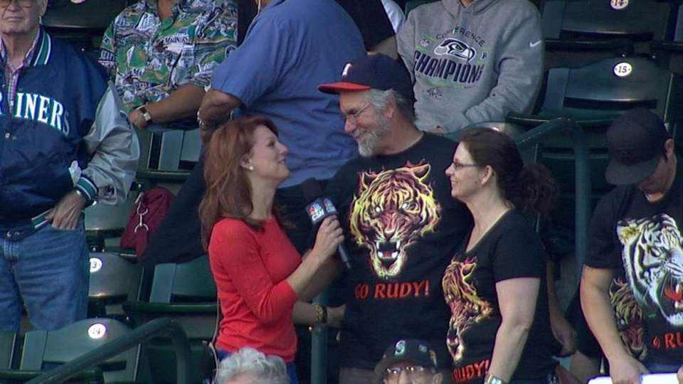 Owens' parents on his MLB debut
