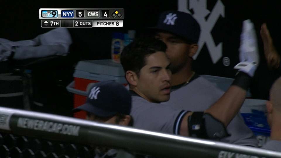 Soriano scores on sac fly