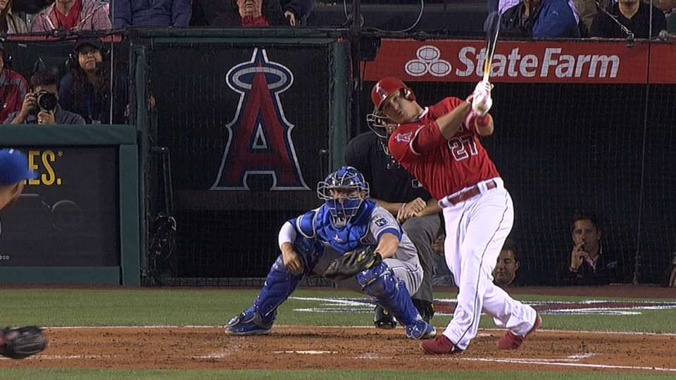 Trout puts on a show