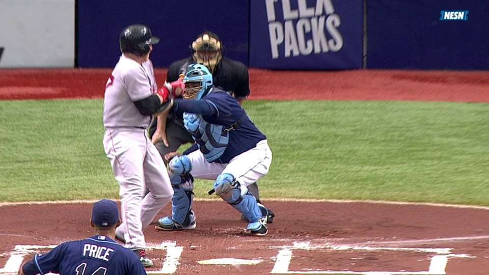 Carp's RBI hit-by-pitch