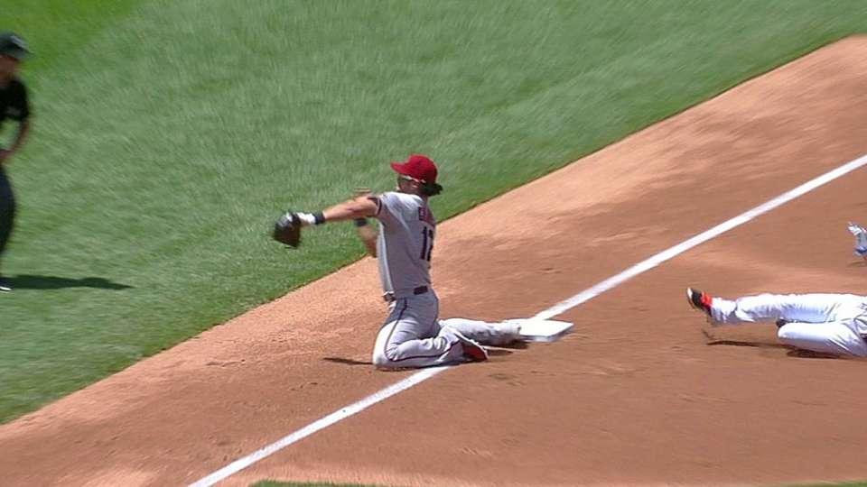 Montero's heads-up throw