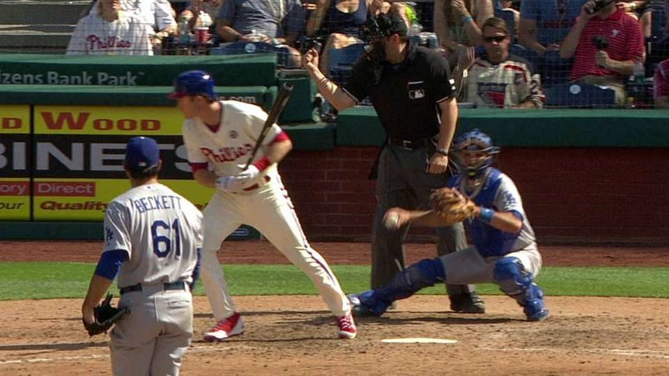 Called strike two on Utley