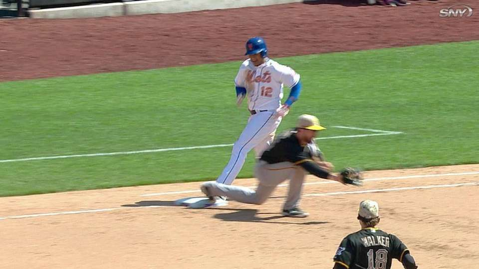 Out call at first stands in 7th