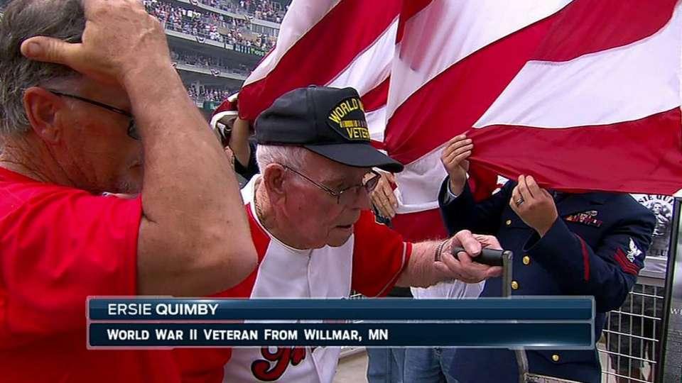 Pregame honor for WWII veteran