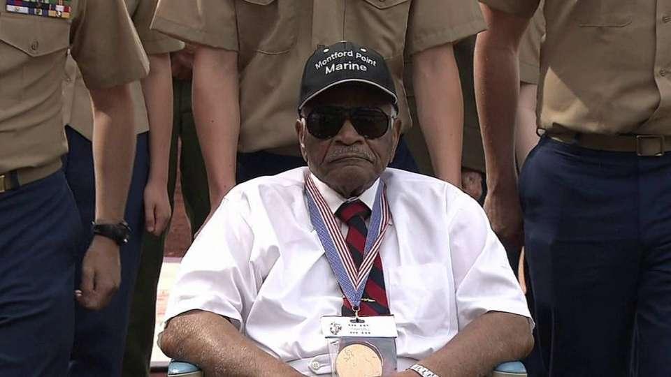 WWII vet on Memorial Day