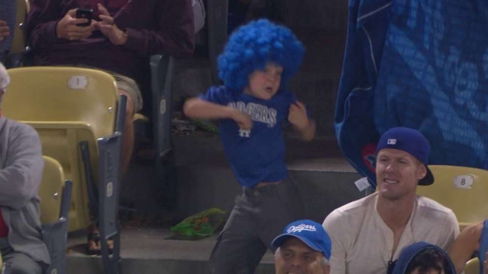 Boy enjoying Dodgers-Reds