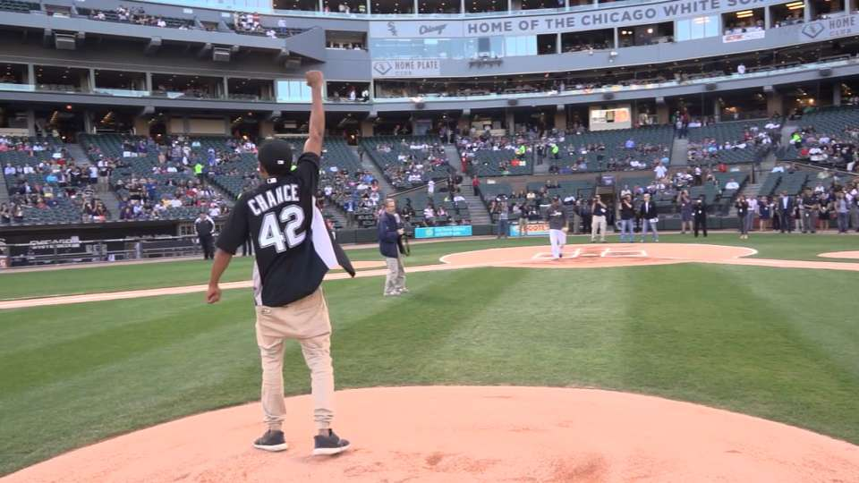 Chance The Rapper's first pitch