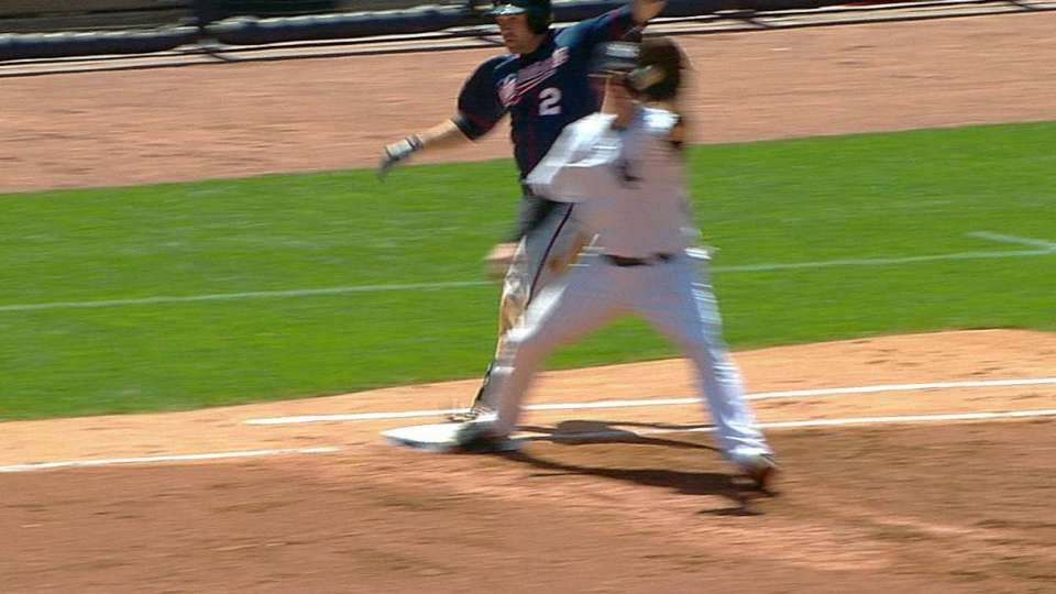 Twins challenge out call in 3rd