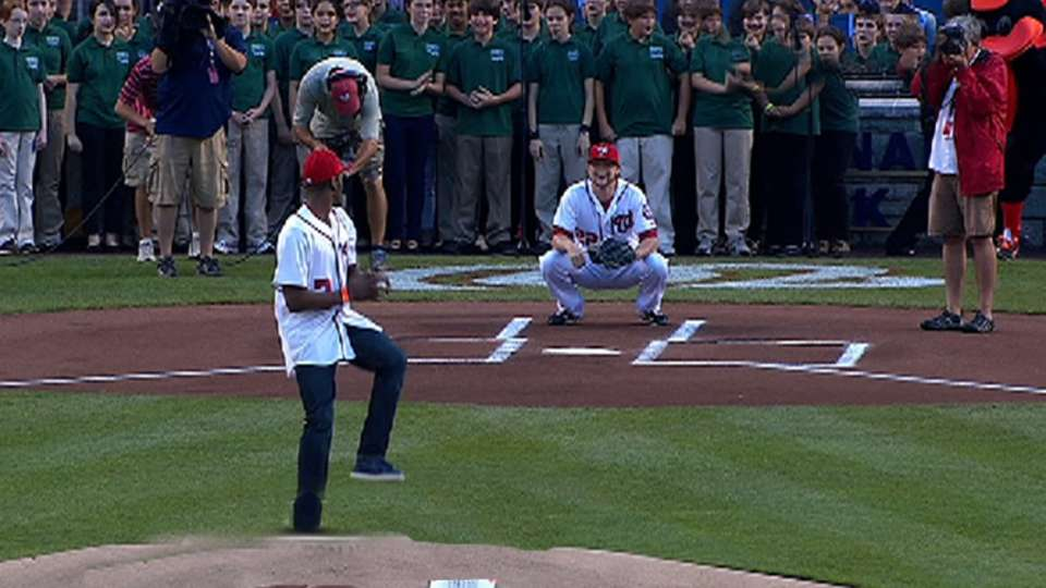 Wall's first pitch