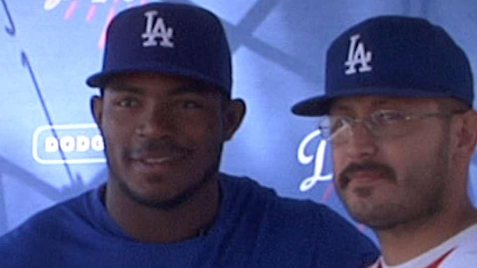 Puig visits Viva Los Dodgers