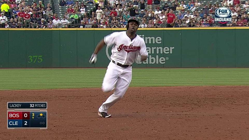Bourn's big triple