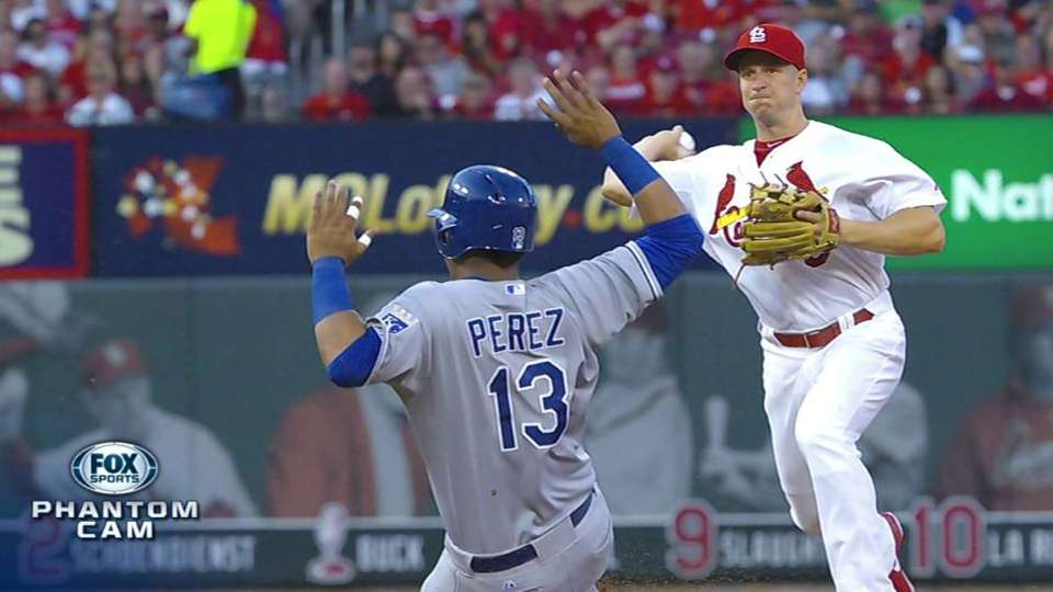 Cards turn 5-4-3 double play