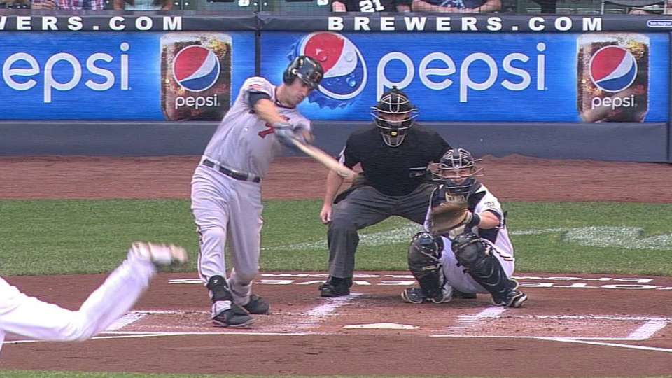 Mauer's sharp double to left