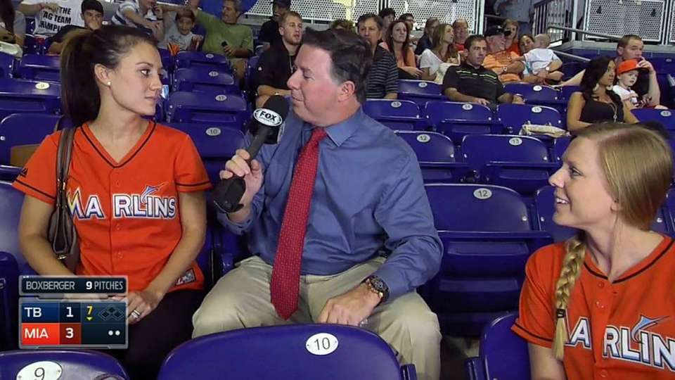 Marlins wives on charity game