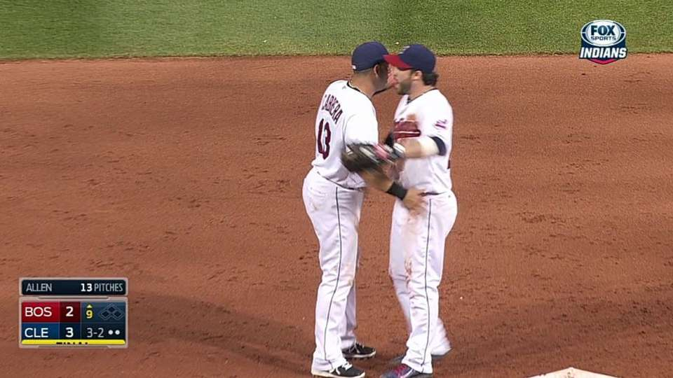 Allen gets save, Tribe wins