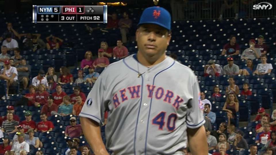 Colon's solid outing