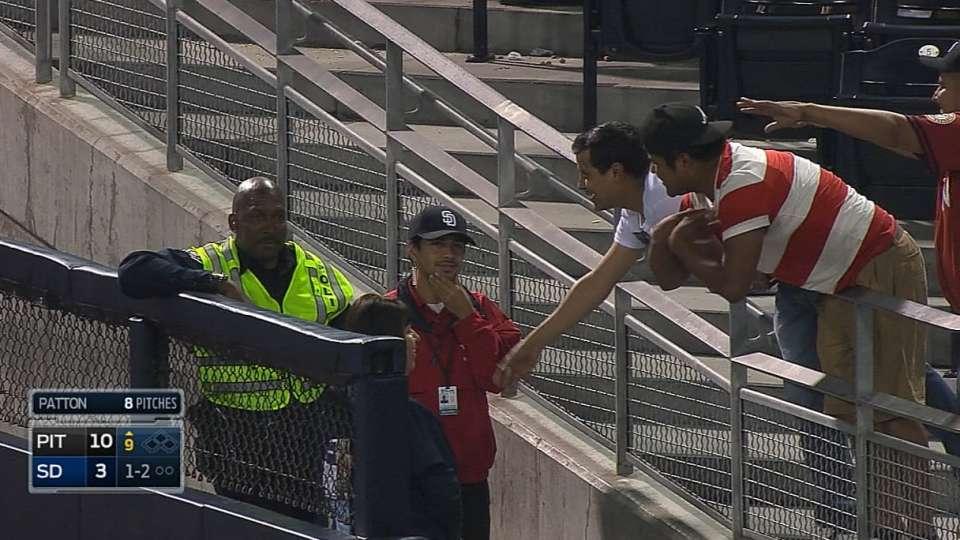 Cop keeps foul ball