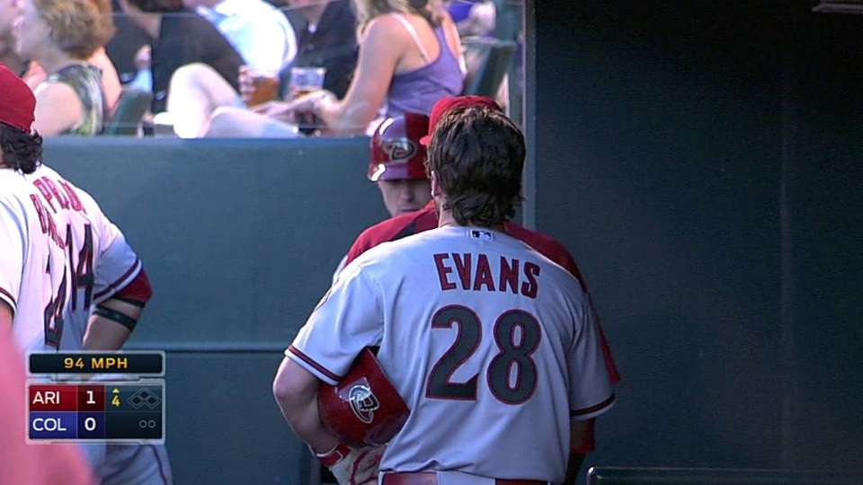 Evans' first homer since '11