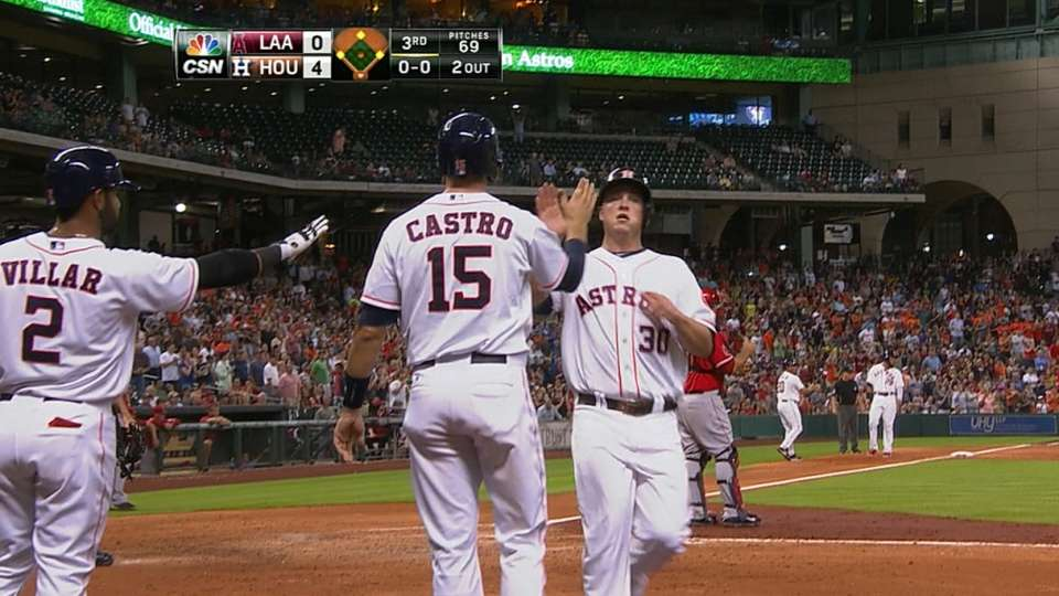 Astros' five-run inning