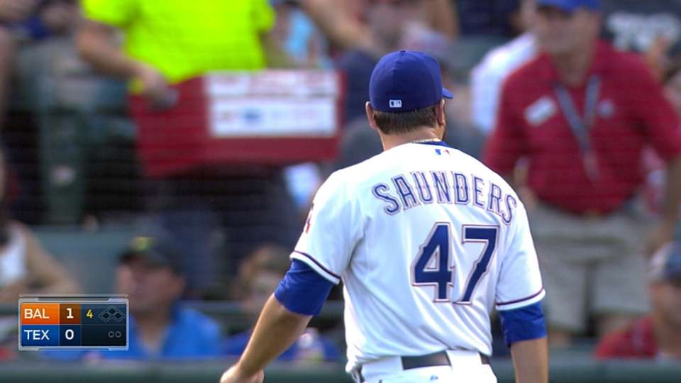 Saunders holds O's to two runs