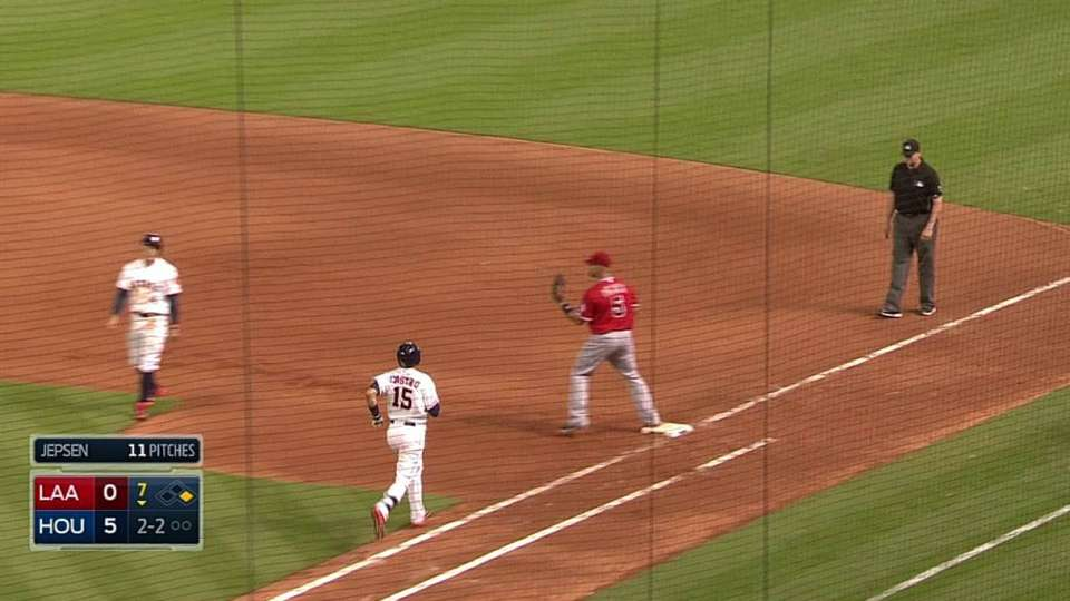 Angels' double play