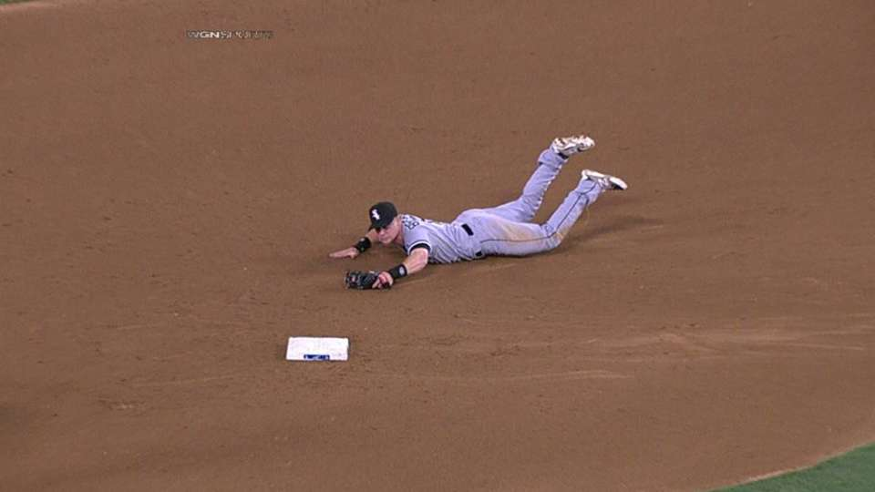 Beckham's diving catch