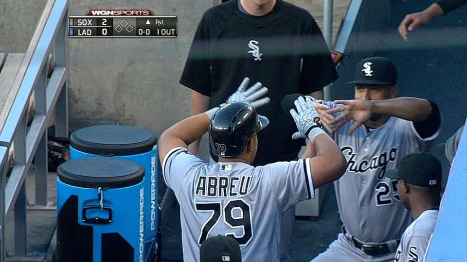 Abreu conecta HR contra Dodgers