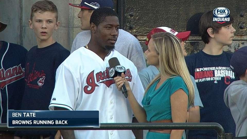Tate talks first baseball game