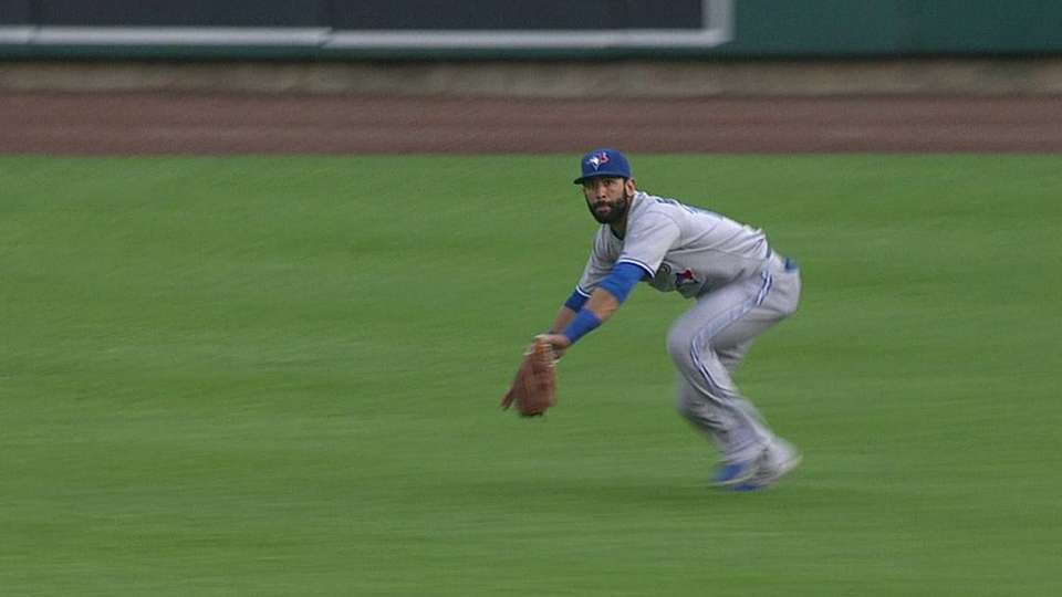 Bautista's diving grab in right