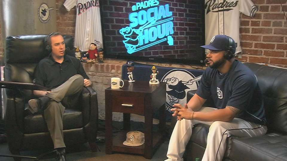 Alonso visits Padres Social Hour