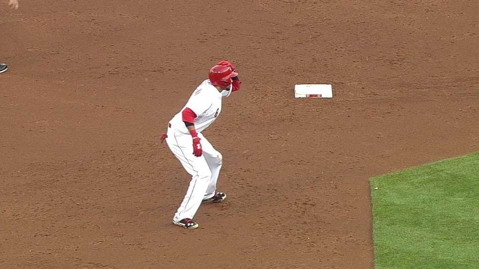 Hamilton's second infield single