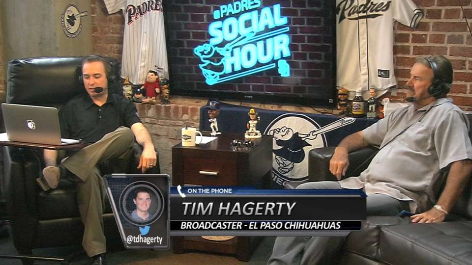 Hagerty joins Padres Social Hour