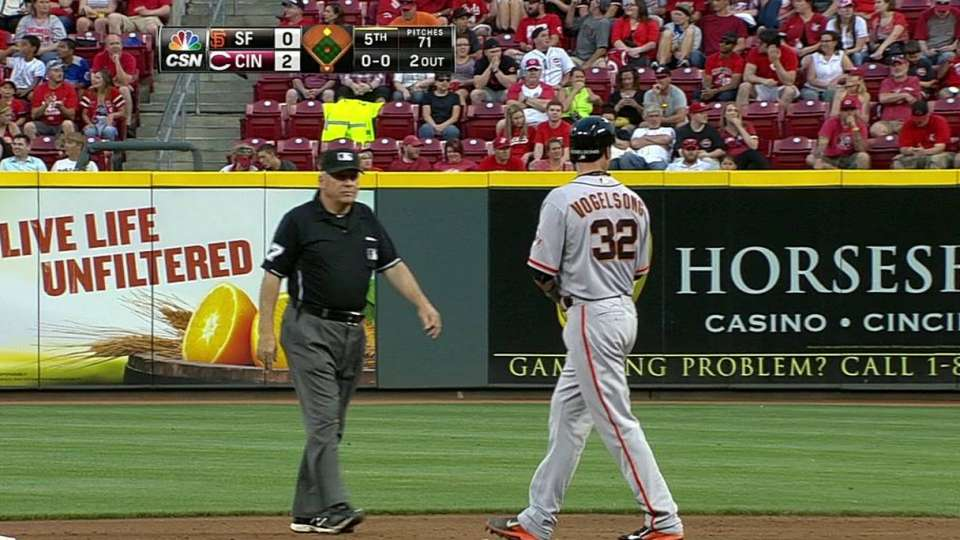 Vogelsong's ground-rule double