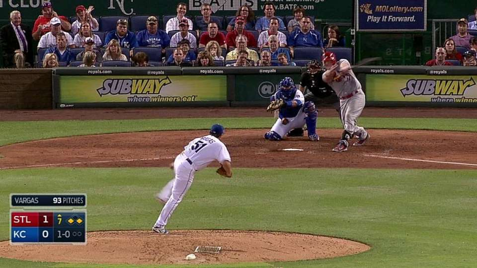 Holliday's RBI groundout