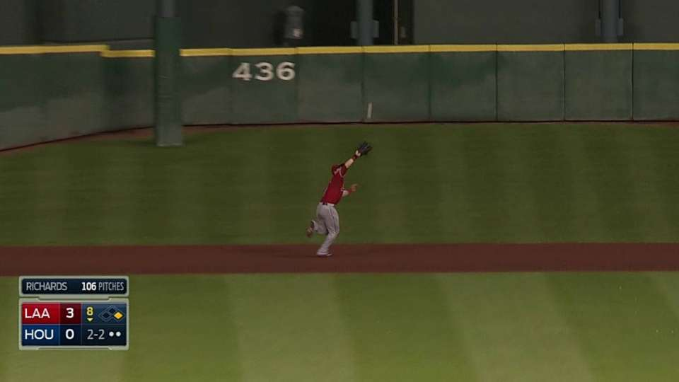 Cowgill's running grab