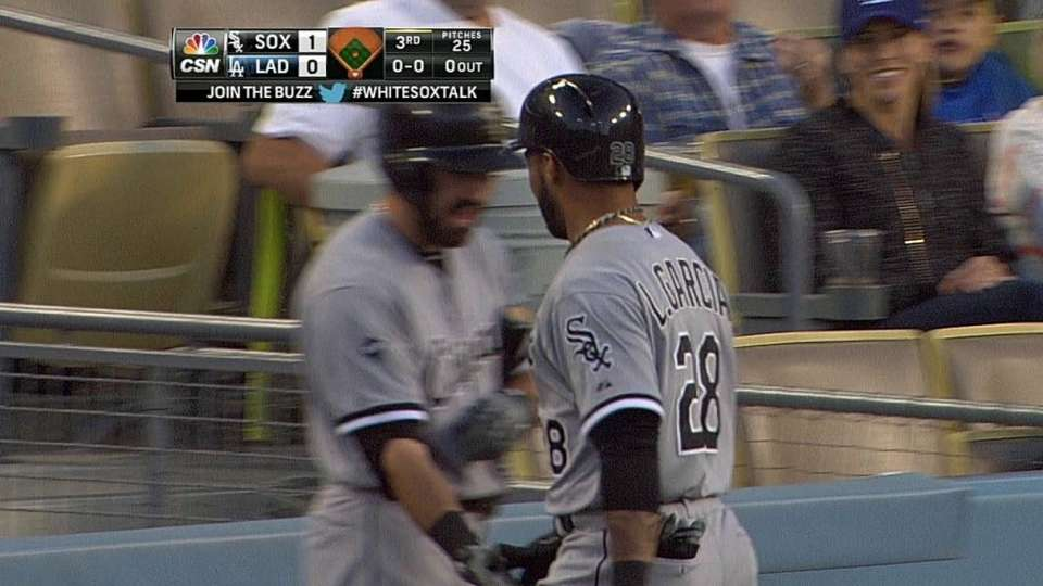 Garcia's first career homer
