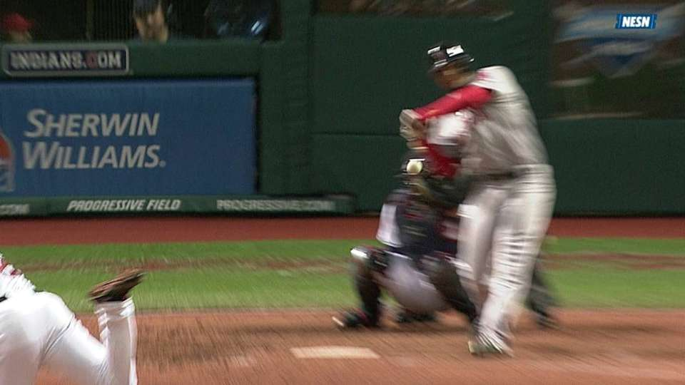 Bogaerts hit by pitch