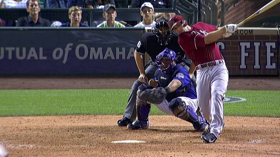 Goldy's bases-clearing double