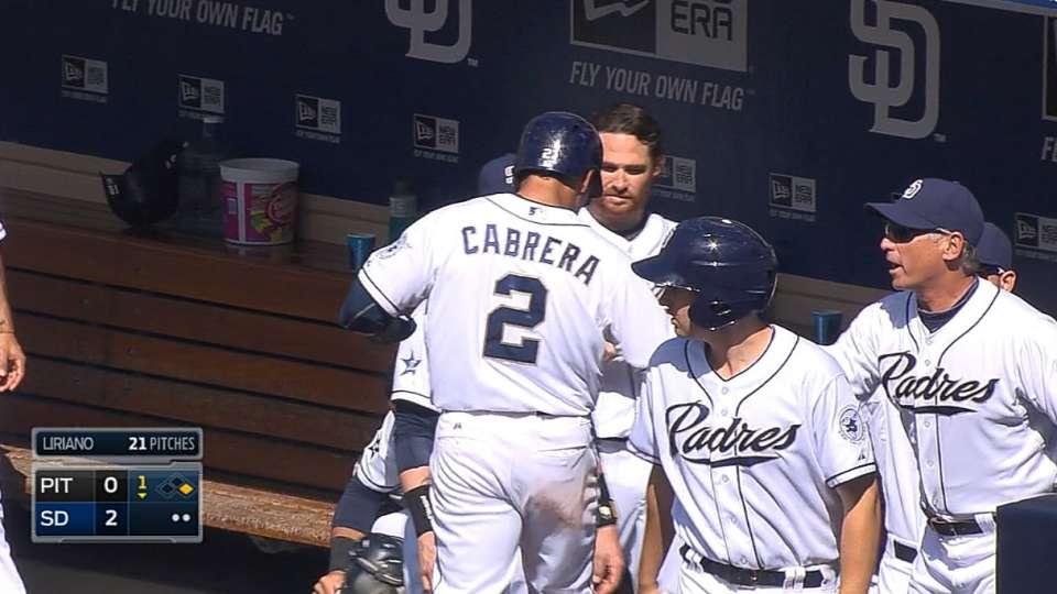 Padres score two despite one hit