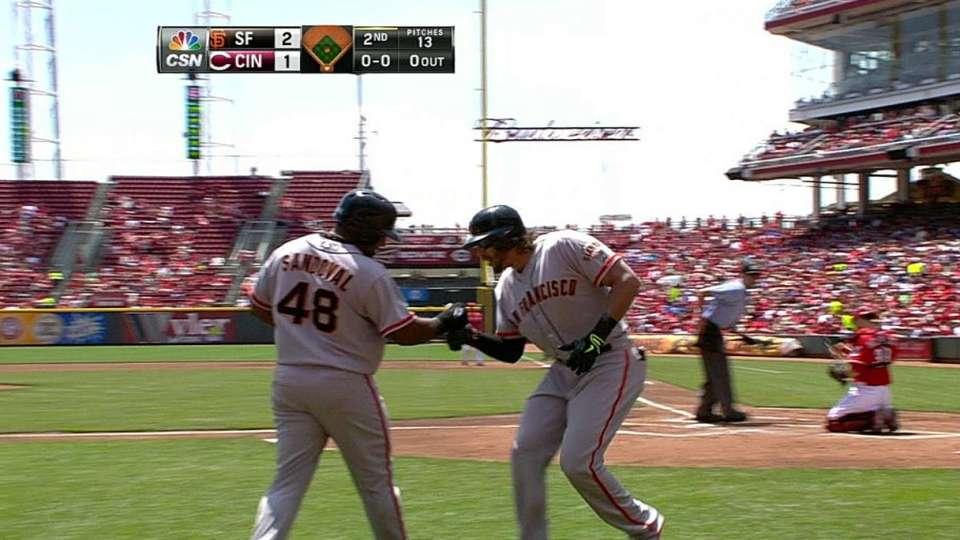 Morse's two-run homer
