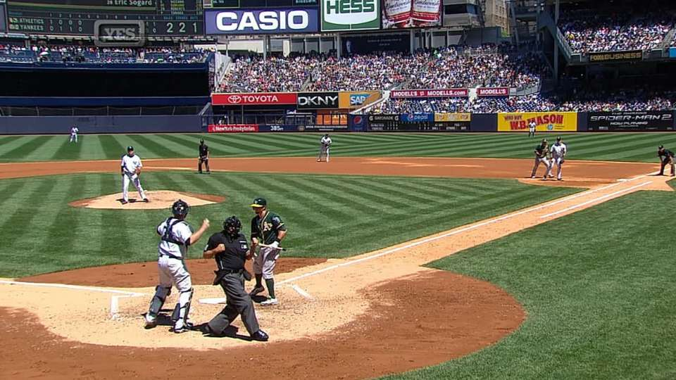 Umpire's emphatic K call