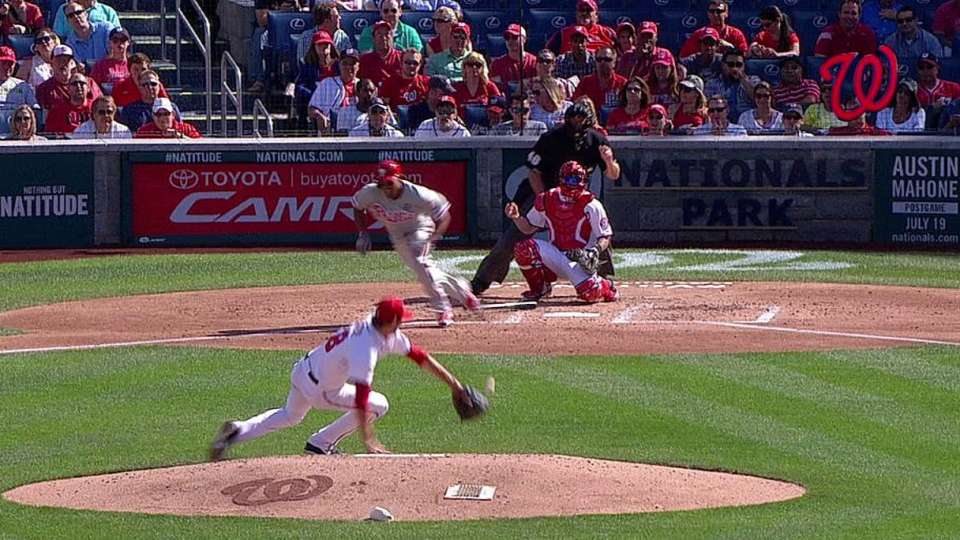 Fister's athletic play
